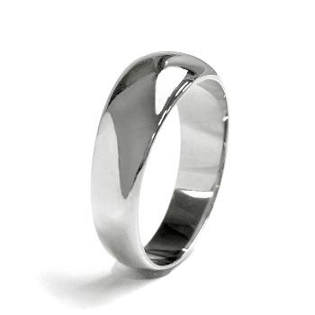 月形甲丸 リング - Pt プラチナ 結婚指輪 エンゲージ シンプル 指輪 メンズ レディース