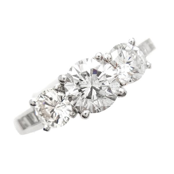 【ご注文後5%OFF】ダイヤモンド リング 1.015ct SI2-G-GOOD Pt プラチナ Pt900 1ct 1カラット ダイヤモンドリング ダイヤリング ダイアモンド リング 指輪 婚約 大粒 ハート スリーストーン 豪華 ゴージャス