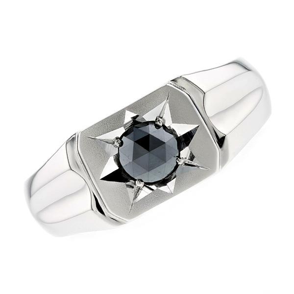 【ご注文確認後3%OFF】ブラックダイヤモンド 印台 メンズリング 0.30ct~ --ローズカット/ファンシーカット Pt 0.3ct 0.3carat 0.3カラット ブラック ダイヤモンド ブラックダイヤ プラチナ PT プラチナ900 印台 メンズ リング 指輪 男 mens ring
