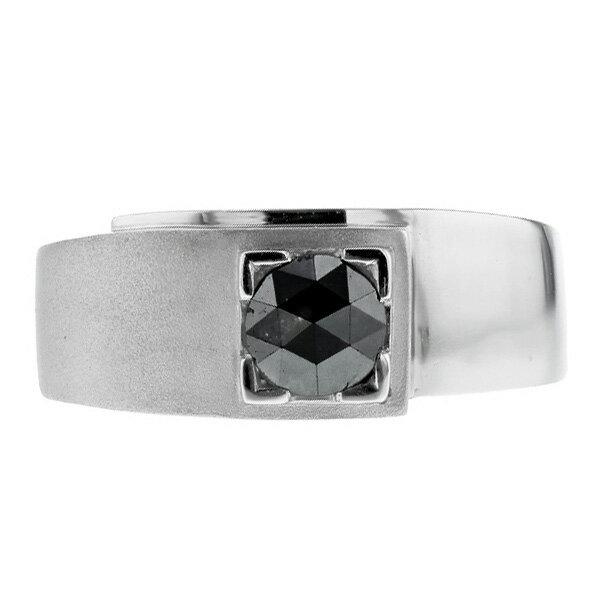 【ご注文確認後3%OFF】ブラックダイヤモンド リング 0.681ct --ローズカット Pt 一粒 0.6ct 0.6カラット メンズ 男性用 リング 指輪 プラチナ pt pt900 ダンディ ダイヤモンド 黒ダイヤ ダイヤリング ブラックダイア