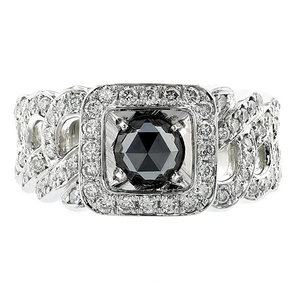 【ご注文確認後3%OFF】ブラックダイヤモンド 喜平 メンズリング 1.955ct --ローズカット Pt プラチナ 喜平 黒ダイヤ 1ct 1カラット 指輪 メンズ 男性 ブラックダイヤ ダイヤモンド ブラックダイヤモンド