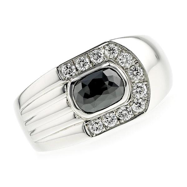【ご注文後5%OFF】ブラックダイヤモンド メンズリング 1.460ct ファンシーカット Pt プラチナ Pt900 黒ダイヤ 1ct 1カラット 指輪 メンズ 男性 ブラックダイヤ ダイヤモンド mens ring ブラックダイヤリング ダイヤリング