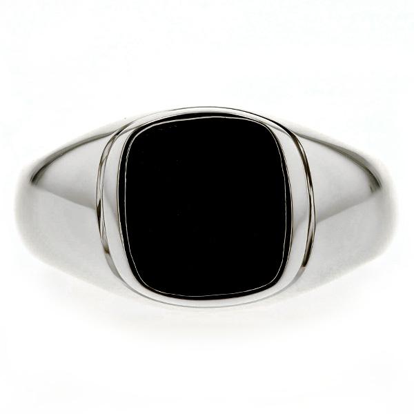 【ご注文後5%OFF】オニキス メンズリング Pt メンズ 男性 男性用 リング 指輪 プラチナ 印台 カレッジ パワーストーン 黒瑪瑙