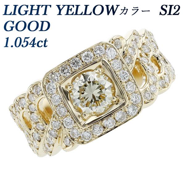 【ご注文後10%OFF】ダイヤモンド 喜平 メンズリング 1.198ct SI2-LIGHT BROWNISH YELLOW-VERY GOOD K18 1カラット 1ct イエローゴールド K18YG ゴールド ダイアモンド ダイア ダイヤ ダイヤモンドリング diamond 指輪 メンズ 喜平リング 印台
