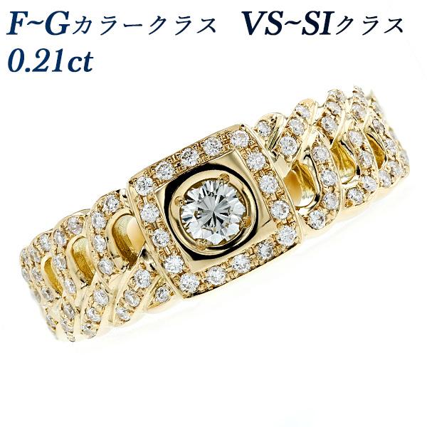 【ご注文後5%OFF】ダイヤモンド 喜平 リング 0.21ct SI~Iクラス-F~Gクラス-ラウンドブリリアントカット K18 K18 18金 イエローゴールド ゴールド 指輪 ダイア ダイアモンド ダイヤ ダイヤモンドリング ring diamond 男性 ユニセックス