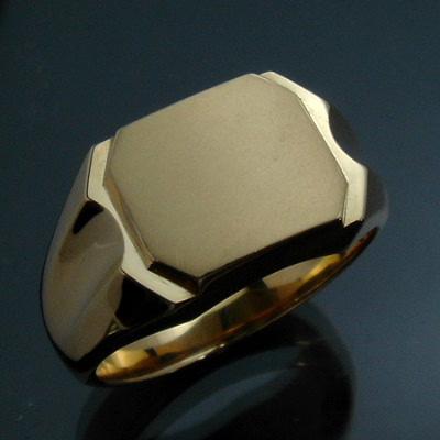 【ご注文後5%OFF】メンズリング 印台(J-6) - K18 18金 イエローゴールド 指輪 メンズ mens 男性 リング ring mensring