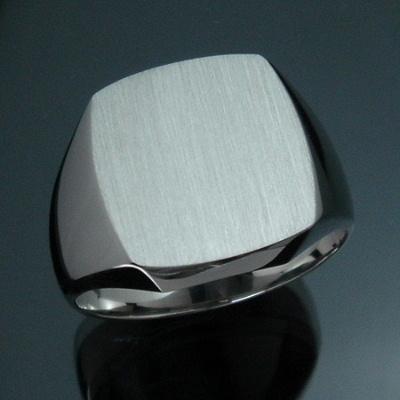 三味 印台 メンズリング - Pt pt Pt900 プラチナ 指輪 メンズ mens 男性 リング ring mensring