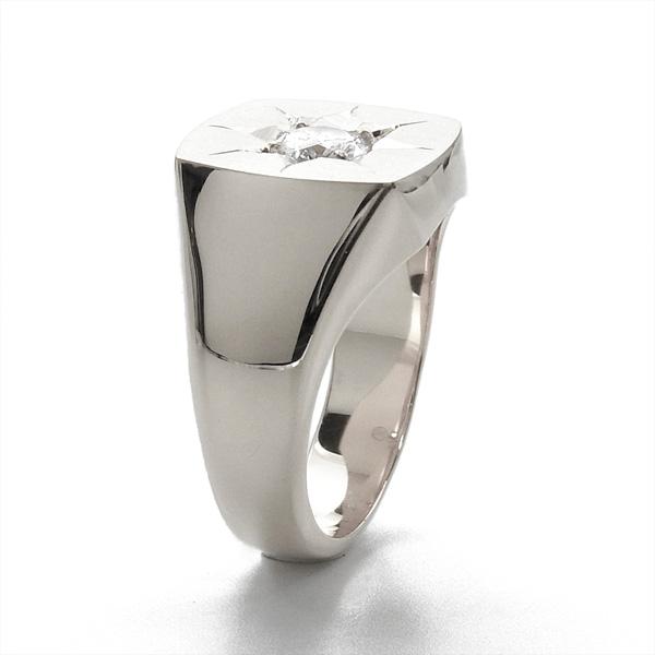 ご注文後10%OFF ダイヤモンド 印台 メンズリング 0 307ct SI2 F GOOD Pt 0 3ct 0 3カラット ダイヤモンドリング ダイヤリング 印台リング メンズジュエリー Pt900 プラチナ プラチナリング 男性 メンズ メンズジュエリーrexBodCW