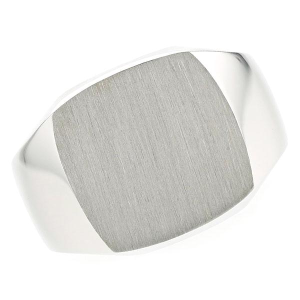 【ご注文後5%OFF】三味印台 メンズリング プラチナ Pt900 Pt 指輪 メンズ mens 男性 リング ring mensring 印台