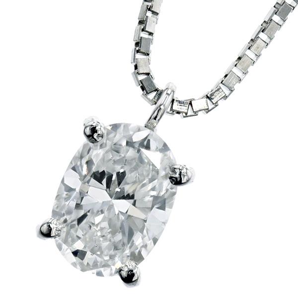 【ご注文確認後3%OFF】ダイヤモンド ネックレス 0.519ct VS2-D-オーバルブリリアントカット Pt 一粒 プラチナ 0.5ct 0.5カラット オーバル ファンシーカット ダイヤネックレス ダイアネックレス ダイア ダイアモンド diamond スタッド