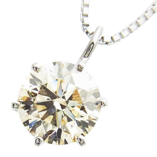 【ご注文後5%OFF】ダイヤモンド ネックレス 1.041ct SI1-LIGHT BROWN-VERY GOOD Pt 一粒 プラチナ Pt900 1ct 1カラット ペンダント ダイアモンドネックレス ダイアネックレス ダイア diamond 一粒ソリティア