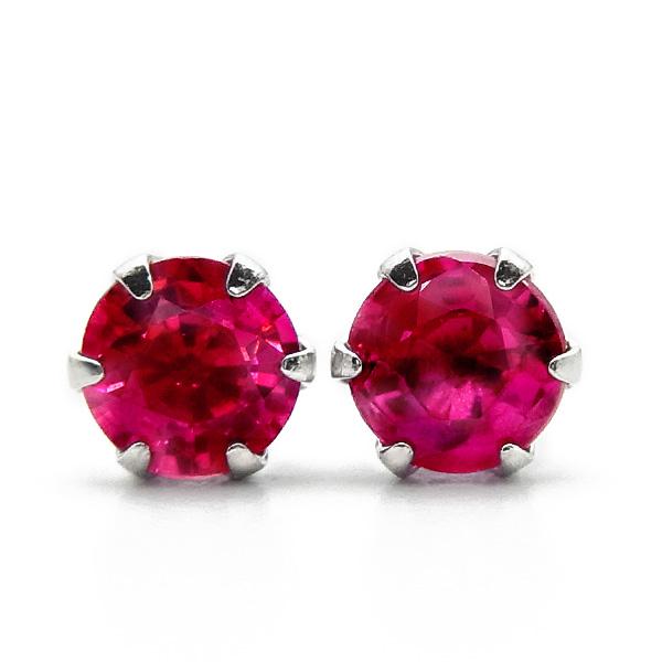 0.3ct プラチナ Pt900 ピアス 天然ルビー 濃い赤 色石 Pt 0.3カラット 0.2ct 0.2~0.3ct カラージュエリー 明るい赤 ルビー ピジョンブラッド スタッド 0.2カラット -ラウンドカット 一粒