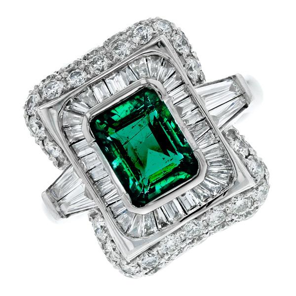 エメラルド リング 1.75ct --エメラルドカット K18WG K18 ホワイトゴールド ゴールド 18金 指輪 エメラルドリング エメラルド ダイヤモンド ダイヤ ダイヤモンドリング リング ring diamond