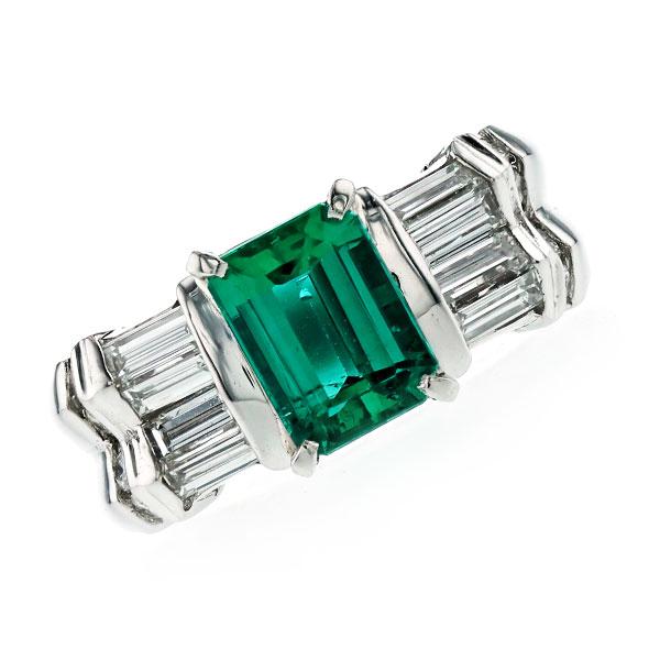エメラルド リング 1.52ct オクタゴナルステップカット Pt プラチナ Pt Platinum 指輪 emerald エメラルドリング エメラルド ダイヤモンド ダイヤ ダイヤモンドリング リング ring diamond
