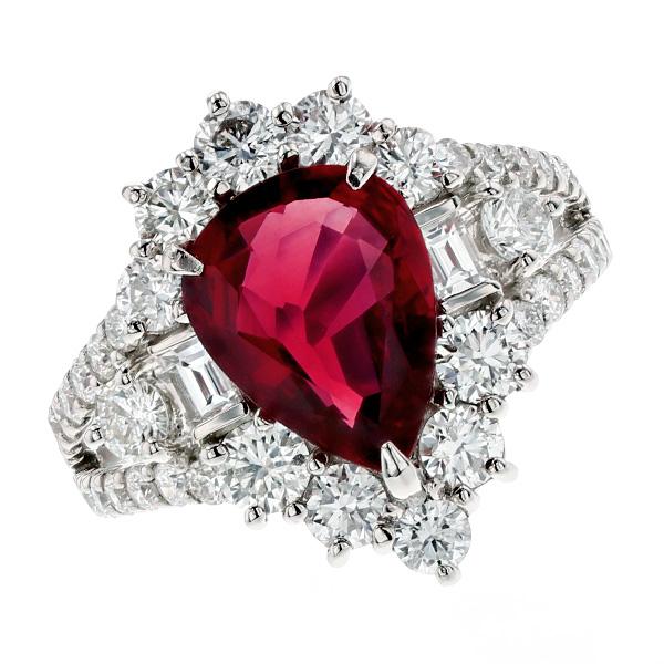 ルビー リング 2.40ct - Pt プラチナ Pt Platinum 指輪 ルビーリング ルビー ダイヤモンド ダイヤ ダイヤモンドリング リング ring diamond