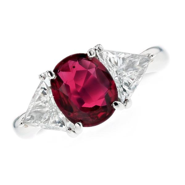 ルビー リング 2.021ct オーバルミックスカット Pt プラチナ Pt Platinum 指輪 ルビーの指輪 ルビーリング ルビー ダイヤモンド ダイヤ ダイヤモンドリング リング ring diamond