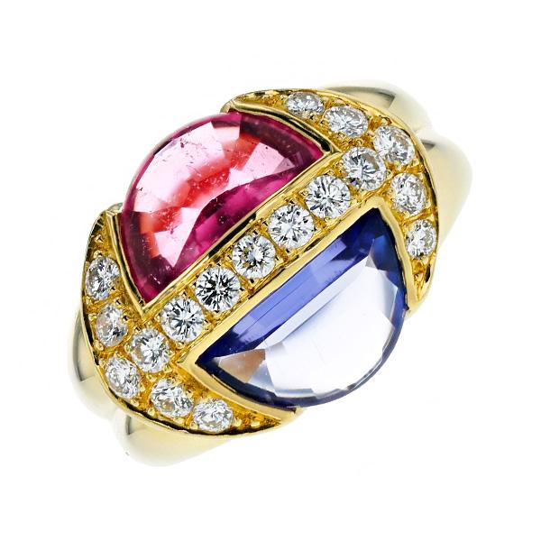 【ご注文後5%OFF】ピンクトルマリン リング 1.79ct - K18 K18 18金 ゴールド 指輪 ピンク トルマリン タンザナイト ダイヤモンド ダイア ダイアモンド ダイヤ ダイヤモンドリング リング ring diamond