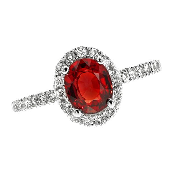 【ご注文後5%OFF】サファイア リング 1.477ct --オーバルミックスカット K18WG 1カラット 1ct サファイアリング オレンジ orange サファイア sapphire リング ring ダイヤモンド diamond ダイヤモンドリング 18金 ホワイトゴールド K18WG