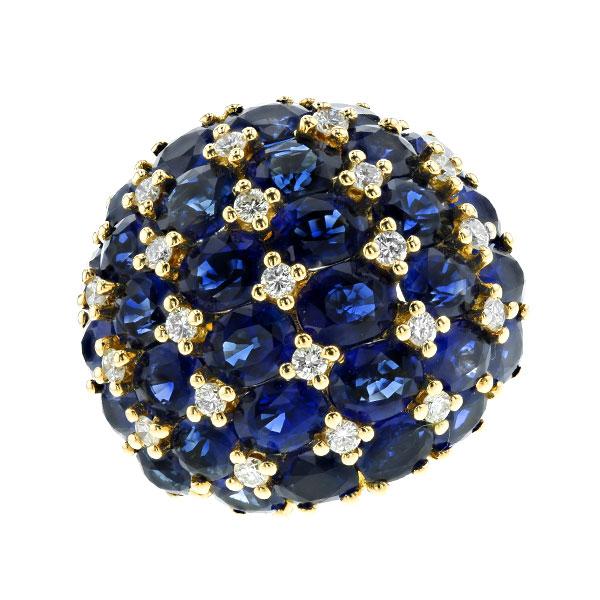 【ご注文後5%OFF】サファイア リング 13.42ct(Total) --オーバルミックスカット K18 サファイアリング ダイヤモンドリング K18 18金 ロイヤルブルー loyalblue ブルーサファイア ダイヤモンド diamond サファイア 指輪 リング ring