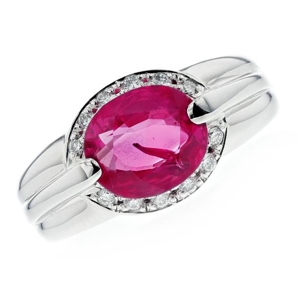 【ご注文後5%OFF】非加熱ルビー リング 2.783ct --オーバルミックスカット Pt プラチナ Pt Platinum 指輪 天然 非加熱 ルビーリング ルビー ダイヤモンド ダイヤ ダイヤモンドリング リング ring diamond