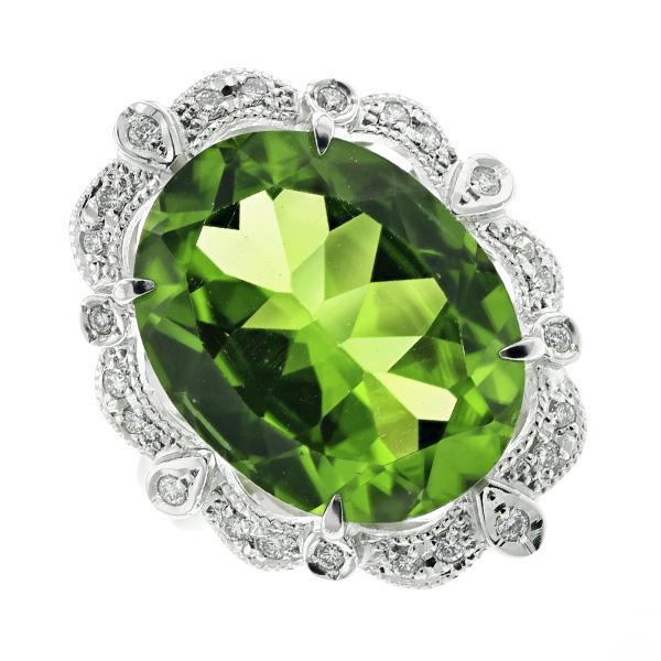 【ご注文後5%OFF】ペリドット リング 12.426ct --オーバルミックスカット Pt プラチナ Pt Platinum 指輪 ペリドットリング peridot ダイヤモンド ダイヤ ダイヤモンドリング リング ring diamond 天然石 パワーストーン