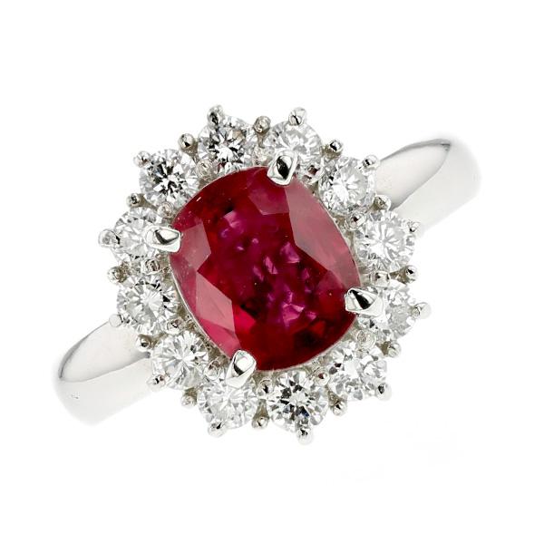 ルビー リング 1.709ct --オーバルミックスカット Pt プラチナ Pt Platinum 指輪 ルビーの指輪 ルビーリング ルビー ダイヤモンド ダイヤ ダイアモンド リング ring diamond