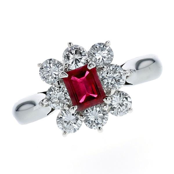【ご注文後5%OFF】レッドベリル リング 0.40ct --エメラルドカット Pt プラチナ Pt リング 指輪 emerald レッドベリル レッドベリルリング エメラルド ダイヤモンド ダイヤ ダイヤモンドリング リング ring diamond レッド red