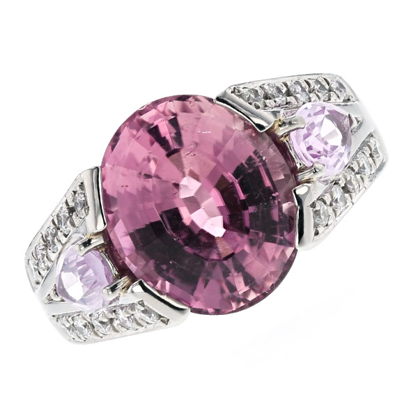 ピンクトルマリン リング 5.39ct オーバルミックスカット Pt Pt900 プラチナ 指輪 ピンク トルマリン トパーズ ダイヤモンド ダイア ダイアモンド ダイヤ ダイヤモンドリング リング ring diamond