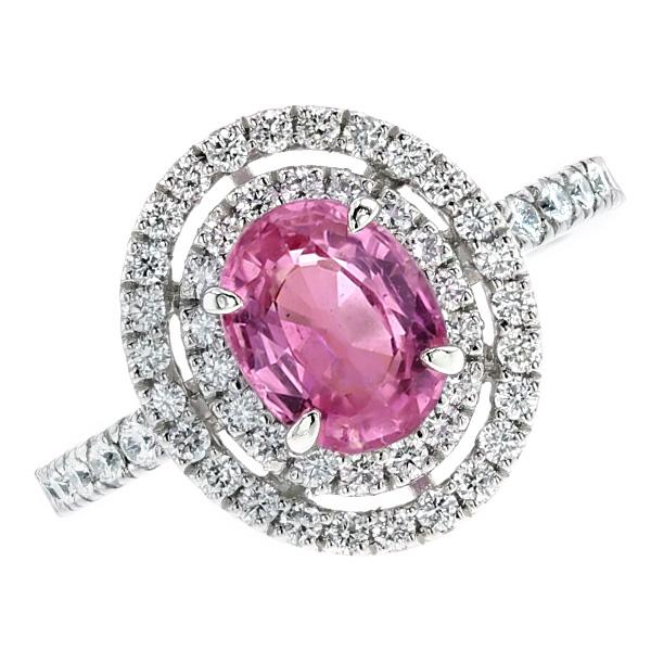 【ご注文後7%OFF】ピンクサファイア リング - Pt サファイア sapphire ピンクサファイア pinksapphire 指輪 ring プラチナ Pt ダイヤモンド diamondダイヤ