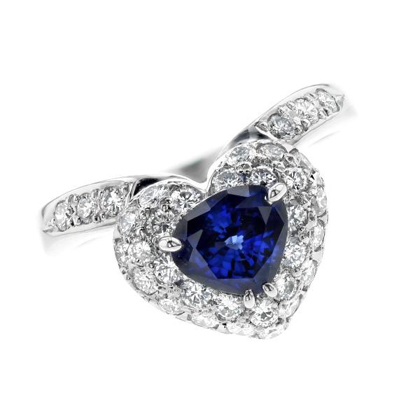 【ご注文後5%OFF】サファイア リング 1.256ct --トリリアントカット Pt 1ct 1カラット サファイアリング ブルーサファイア サファイア リング 指輪 Pt プラチナ ブルー blue ダイヤモンドリング ダイヤモンド diamond