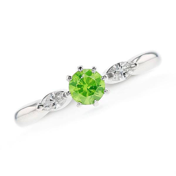 デマントイドガーネット リング 0.333ct - Pt 0.3ct 0.3カラット プラチナ Pt950 指輪 デマントイド ガーネットリング garnet ring diamond