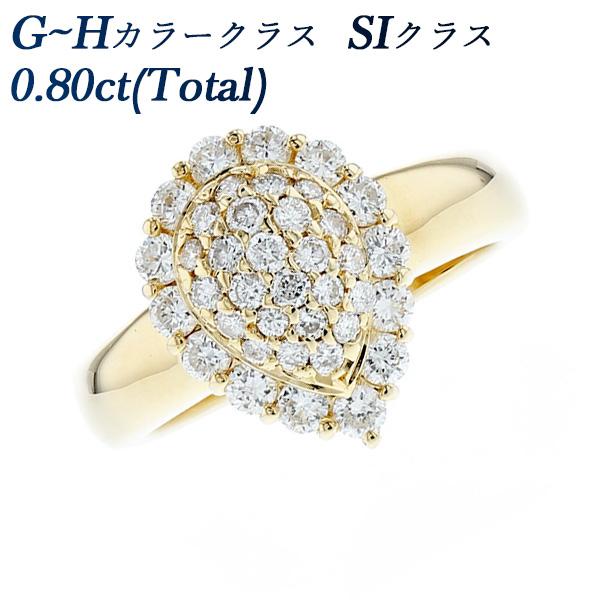 【ご注文確認後3%OFF】ダイヤモンド リング 0.80ct(Total) SI-G~H-ラウンドブリリアントカット K18 ダイヤモンドリング 指輪 ダイヤリング ダイアリング ダイアモンド diamond ダイヤモンド