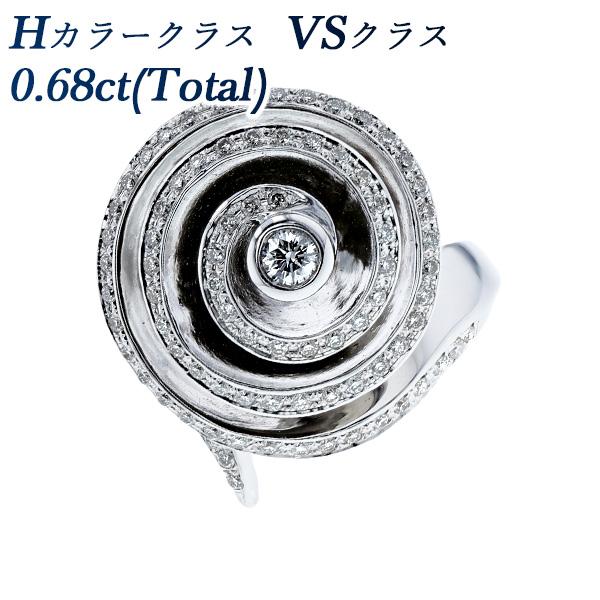 【ご注文後5%OFF】ダイヤモンド リング 0.68ct(Total) VS-H-ラウンドブリリアントカット K18WG 0.6ct 0.6カラットダイヤモンドリング 指輪 ダイヤリング ダイアリング ダイアモンド diamond ダイヤモンド 18金 ホワイトゴールド K18