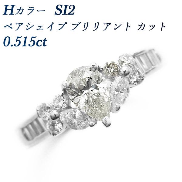 【ご注文後5%OFF】ダイヤモンド リング 0.515ct SI2-H-ペアシェイプブリリアントカット Pt 1.109ct 1.0ct 1カラット ペアシェイプ ペアシェープ ブリリアント カット プラチナ Pt900 婚約指輪 ダイヤリング ダイヤモンドリング シンプル