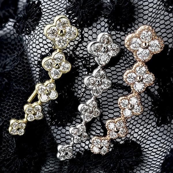 【ご注文確認後3%OFF】ダイヤモンド ピアス 1.20ct(Total) SIクラス-G~Hクラス-ラウンドブリリアントカット K18 1ct 1カラット 18金 K18WG K18PG イエローゴールド ホワイトゴールド ピンクゴールド ダイヤピアス ダイヤ ダイアモンド ダイア