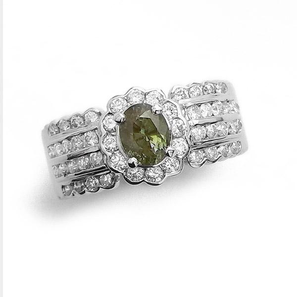アレキサンドライト リング 0.926ct - Pt プラチナ pt900 0.9ct 0.9carat 0.9カラット アレキサンドライト ダイアモンド ダイヤ ダイヤモンドリング ダイアリング diamond 指輪
