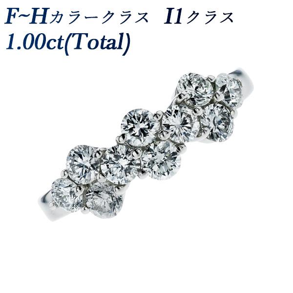 【ご注文後5%OFF】ダイヤモンド リング 1.00ct(Total) I1クラス-F~Hクラス-ラウンドブリリアントカット Pt ダイヤモンド リング 指輪 Pt Pt900 プラチナ 1.0ct 1カラット ダイヤモンド ダイアモンド ダイヤ ダイア