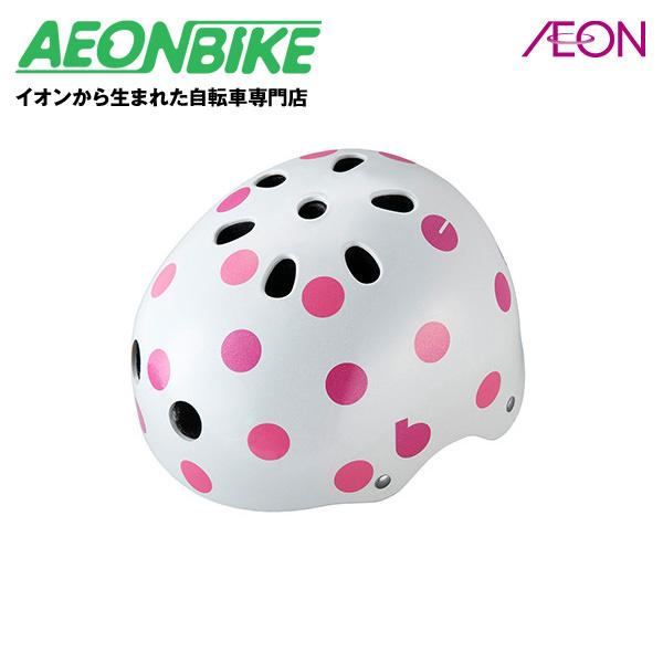 デザイン豊富なbikkeキッズヘルメット。頭にぴったりフィットするサイズ調整アジャスター付! ブリヂストン (BRIDGESTONE) ビッケ ジュニアヘルメット CHBH5157 ドットピンク 51-57cm B371582WP1 ヘルメット