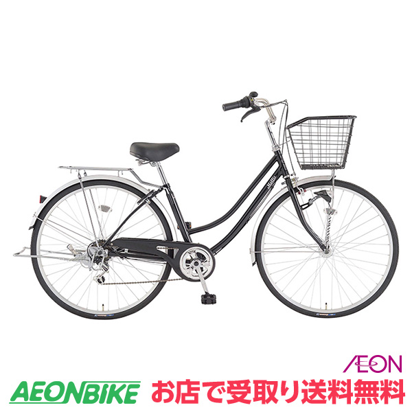 シンプルなデザインで使いやすいファミリーサイクル。 【お店受取り送料無料】モーリスファミリーB ブラック 外装6段変速 27型 通勤 通学 自転車
