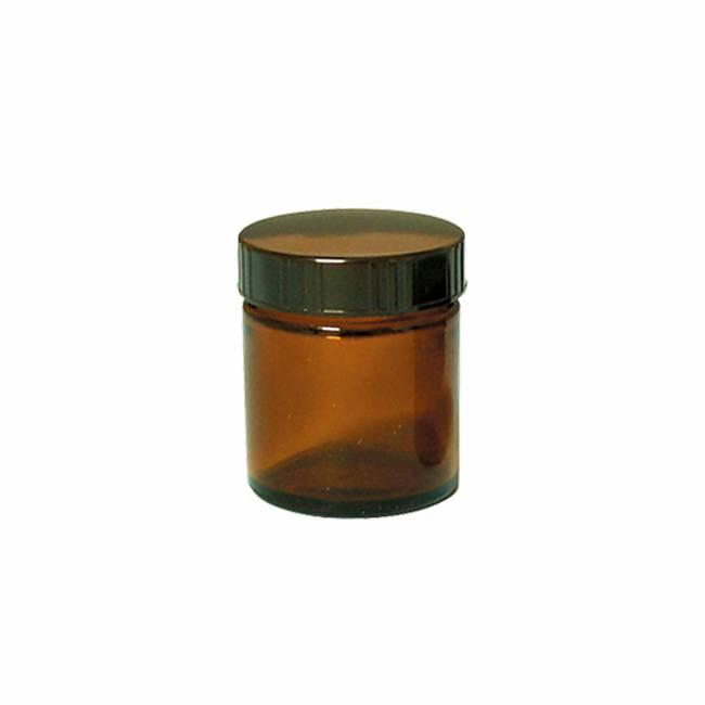 生活の木 茶色ガラス クリーム容器 50ml