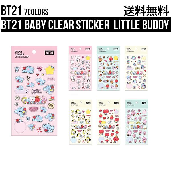 BT21 Baby Clear Sticker Little Buddy 送料無料 BTS 公式 グッズ バンタン 韓国 人気 ちょうどいいサイズ かわいい 最安値 CHIMMY TATA スーパーセール期間限定 人気ショップが最安値挑戦 ステッカー 防弾少年団 シール COO ベイビーシリーズ K-POP 持ち運び
