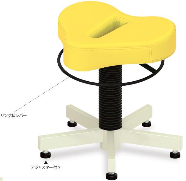 【高田ベッド】 プロスツール(アジャスター付き) TB-904-02