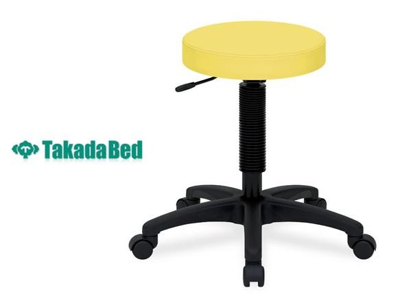 【高田ベッド スツール】 ホスピタルハイチェアー TB-439-02 5脚ベース チェアー