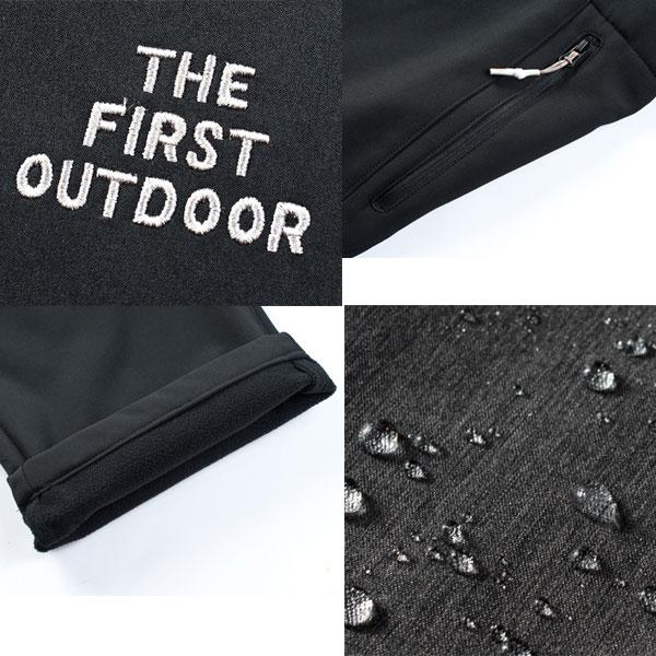 The First Outdoor メンズ 撥水 裏起毛 パンツ TFO-772612 M~XXXL 保温 防風 静電防止 耐水 透湿 ストレッチ バイク 防寒 あったかい アウトドア  釣り ウォーキング 登山 ゴルフ ウェア 人気 ファッション ax アエトニクス