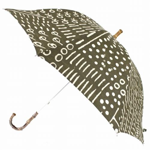 アフリカンプリント 泥染め 傘 晴雨兼用 雨傘/日傘 1702 カメレオン