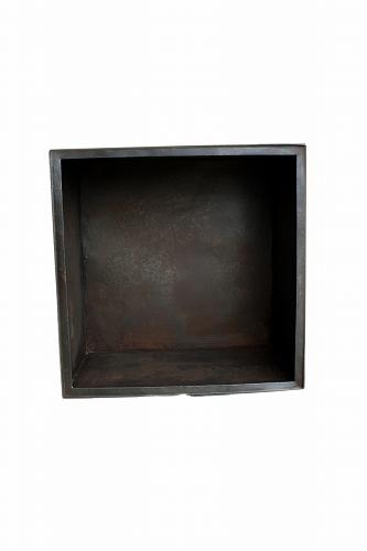 マダガスカル・鉄カラーボックス (幅35cm) 正方形1段
