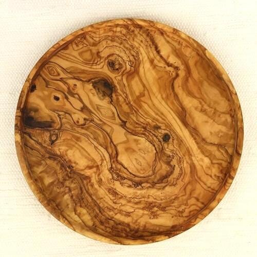 オリーブ木 トラスト 円 浅皿 売り出し 25cm
