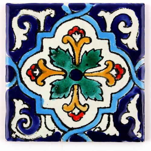 チュニジアの職人が一枚一枚手描き CARO 結婚祝い チュニジア手描きタイル メーカー在庫限り品 56