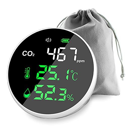 CO2測定器 CO2センサー 35%OFF 日本語説明書付 消音モードあり 国内機関検査済 アラーム付き USB充電式大容量バ オンラインショッピング 30時間連続使用可 ndir方式