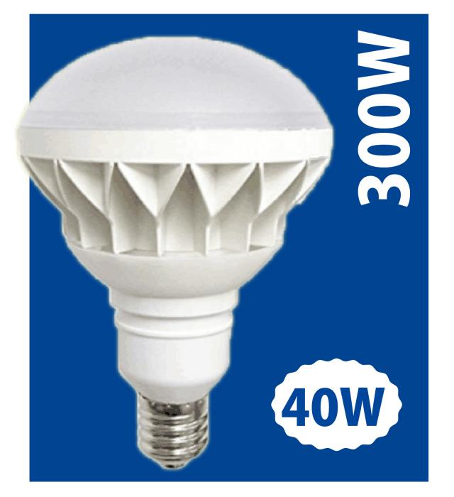 LEDビームライト40W バラストレス水銀灯300W相当の明るさ